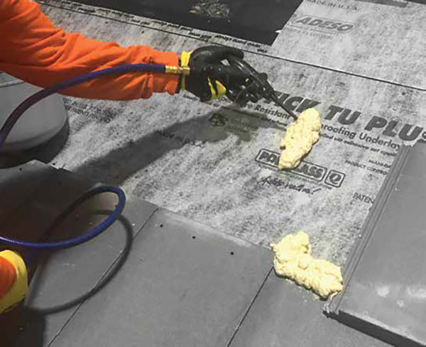 Polyset Rta 1 Is A One Component Polyurethane Adhesive Specifically Designed To Bond Concrete And Clay Roofing Tiles Roved Underlayment On New